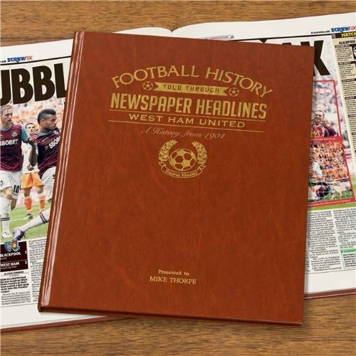 Personalised West Ham Football Book